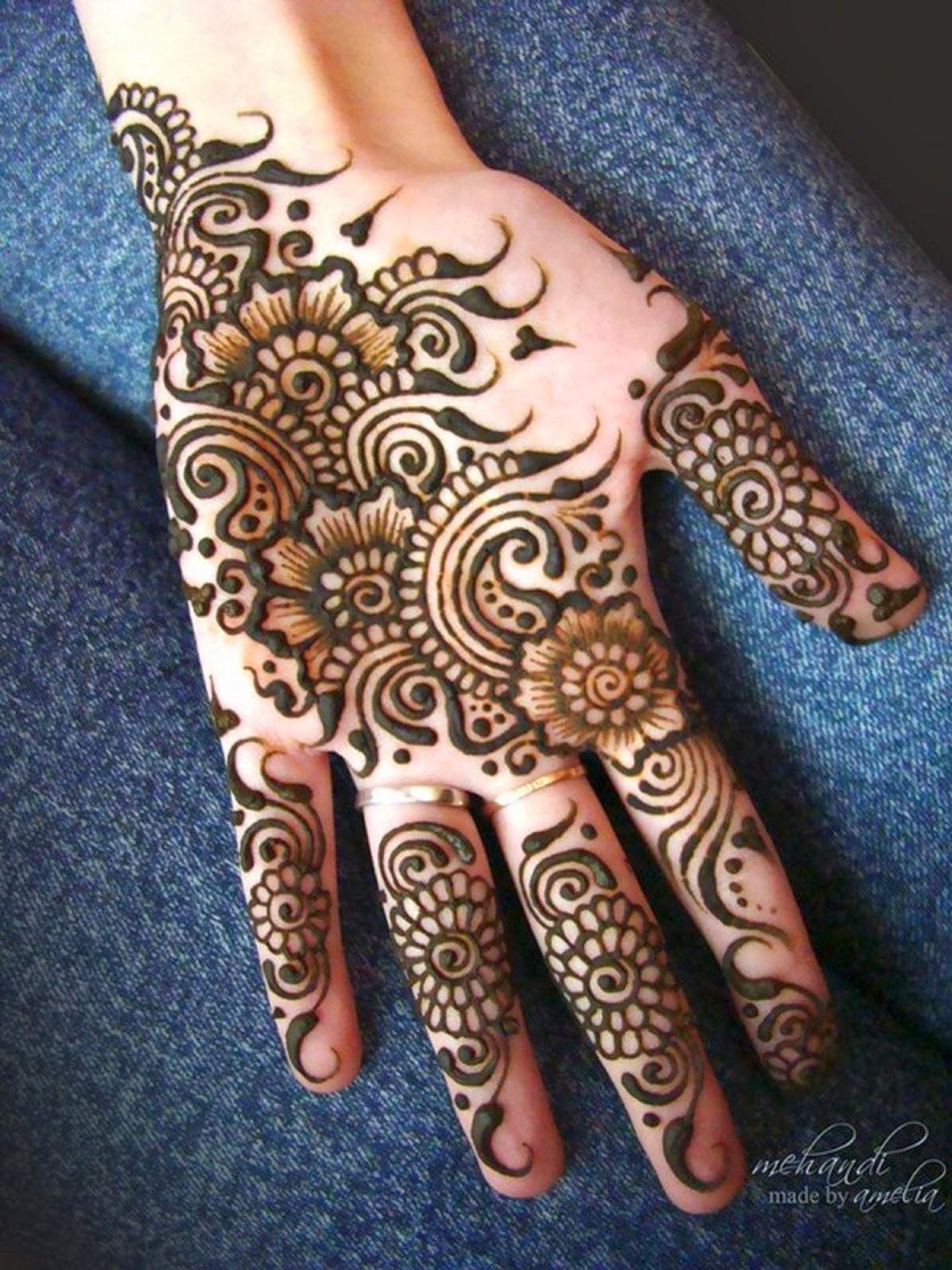 Mehndi Designs With : Mehndi designs for girls amelia