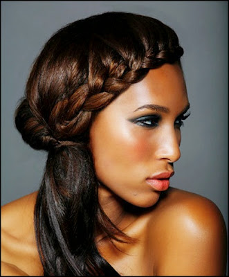 black french braid updo