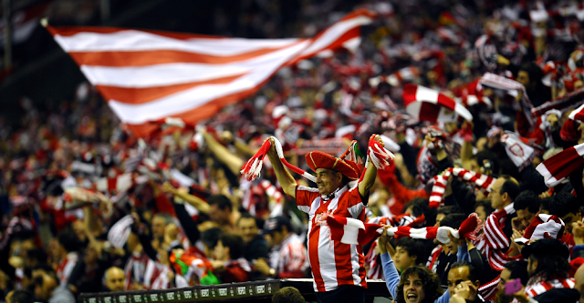 Athletic Bilbao fans in the stadium