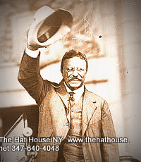 Teddy Roosevelt waving Panama Hat