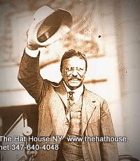 Teddy Roosevelt waving Panama Hat