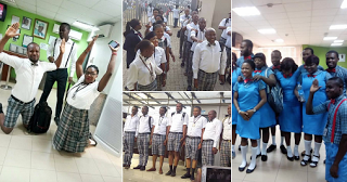 Diamond Bank staff wear school uniforms to work