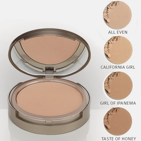 ColoreScience Pressed Mineral Foundation California Girl Ipanema and Taaste of Honey