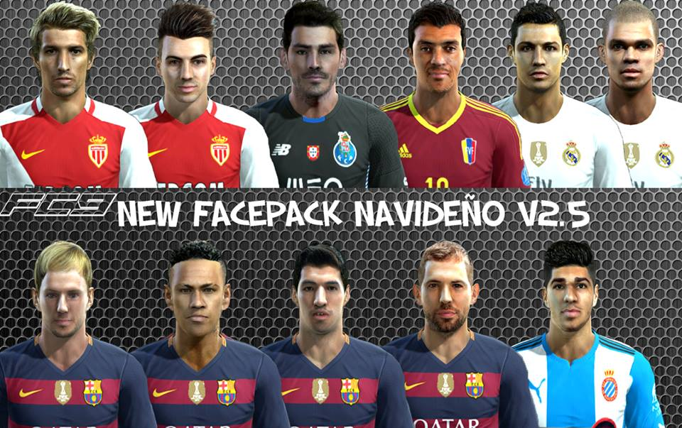 PES 2013 New Facepack Navideo V25 By Facemaker Cesareo