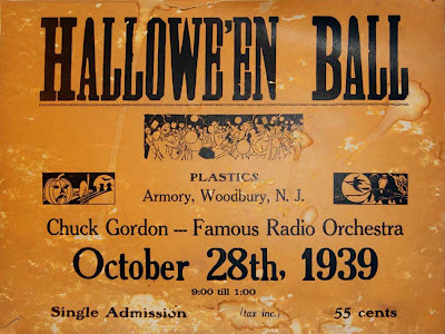 Poster from a Hallowe'en Ball in Woodbury 1939