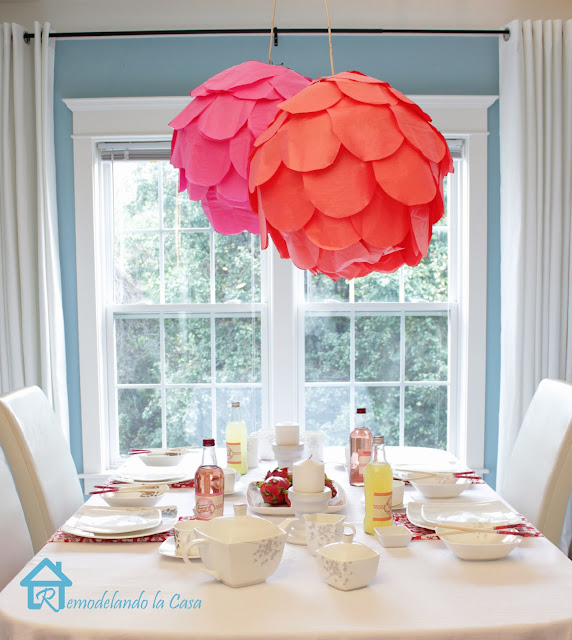 tablescape with pink and orange theme