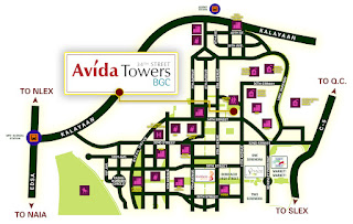 Avida Towers BGC 34th Street Location Map
