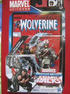 Marvel Universe comic packs X-men Wolverine Patch Silver Samurai Classic Famous Battles