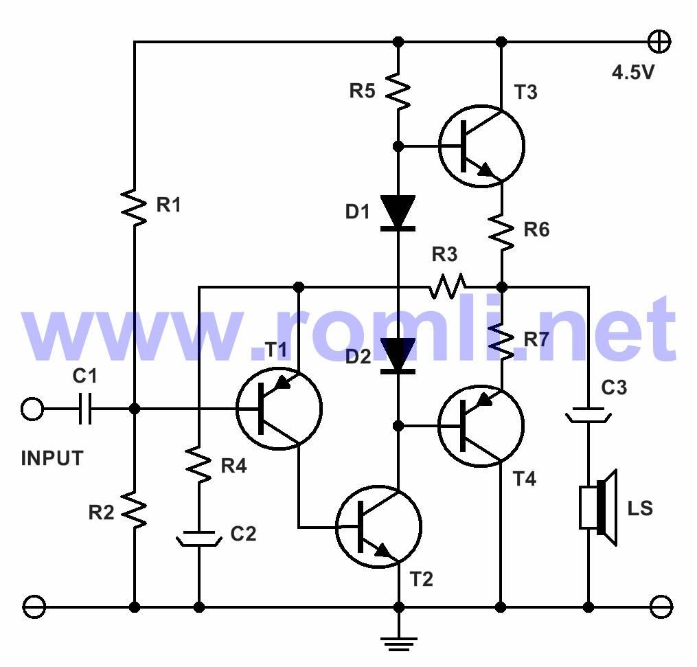 Amplifier mini dengan transistor