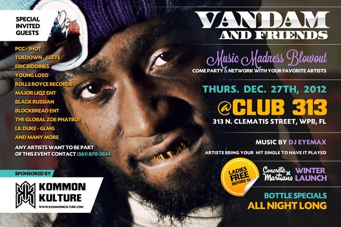 Vandam Bodyslam & Friends 12/27  (GLMG Special Guest)