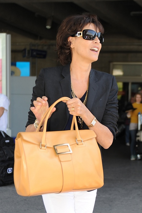 """Stars Wear Roger Vivier   The 65th Annual Cannes Film Festival. Ines de la  Fressange carried the bag """"Metro ... 5acca01894"""