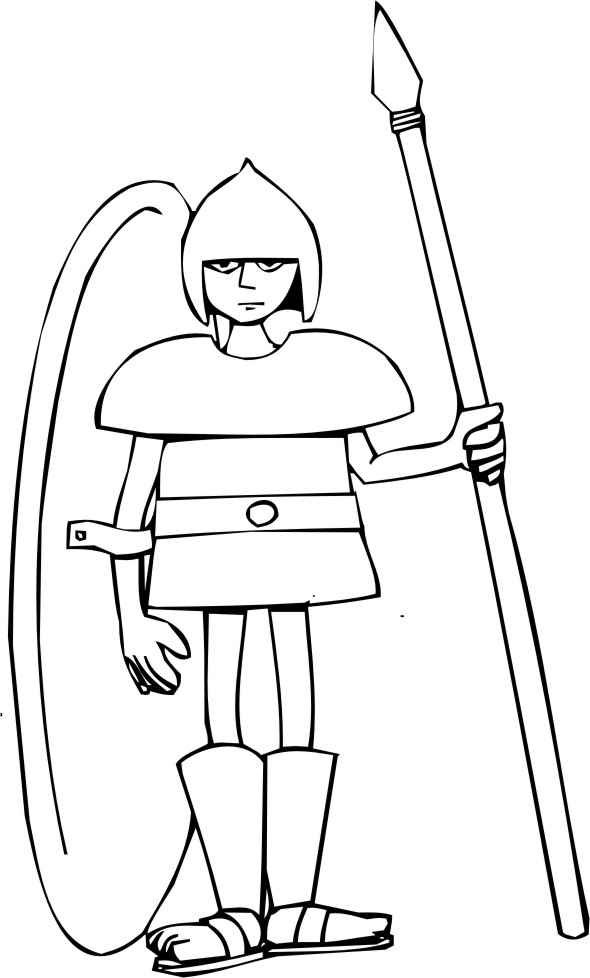 David Saul Coloring Pages http://biblepuzzles.blogspot.com/2012/02/bible-coloring-pages-david-with-sauls.html