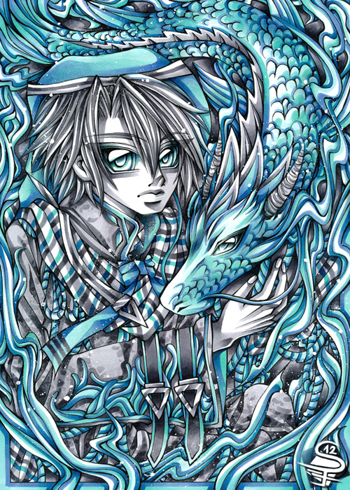 06-Dragon-Year-Sandra-Filipova-DarkSena-Manga-Black-and-White-and-Colour-Detailed-Drawings-www-designstack-co