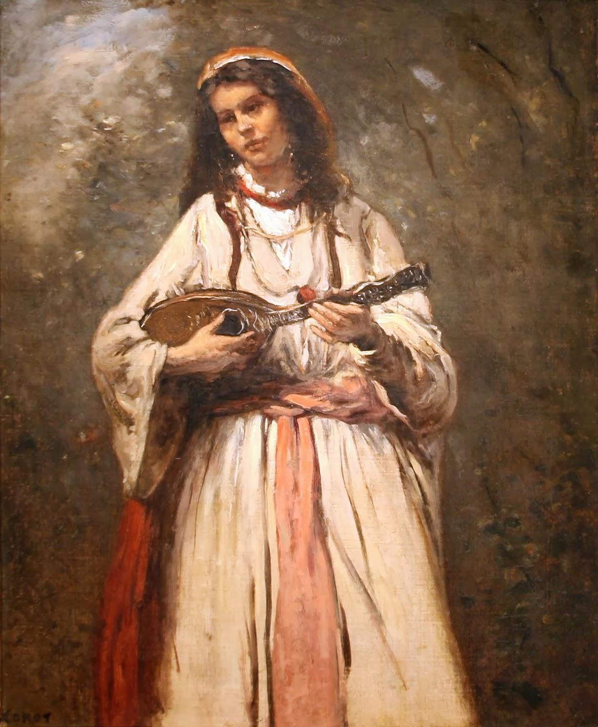 Jeune bohémienne à la mandoline, ca. 1870