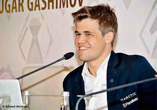 Echecs : Magnus Carlsen bat d'entrée de jeu Shakhriyar Mamedyarov puis Nakamura au Mémorial Vugar Gashimov - Photo site officiel