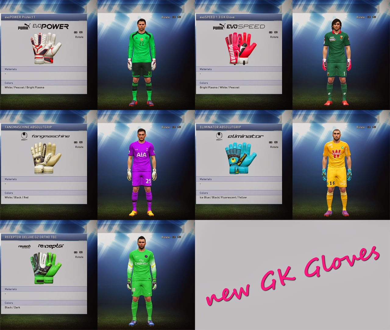 New PES 2015 Goalkeeper Gloves