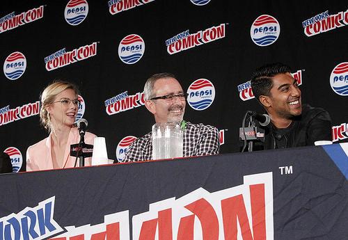 Emma Ishta, Jeffrey Schechter and Ritesh Rajan at New York Comic Con