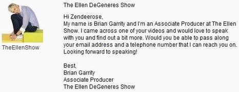 ellenshow brian garrity email to zendee rose