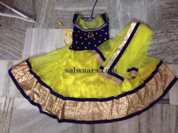 Yellow Fancy Lehenga Duppatta