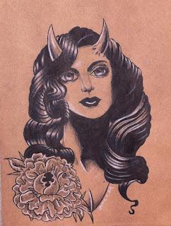 Tattoo, cincinnati art, cincinnati, girl head, girlhead tattoo