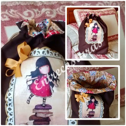 Mochila Gorjuss chocolate. Entrecosturas. Accesorios artesanales.