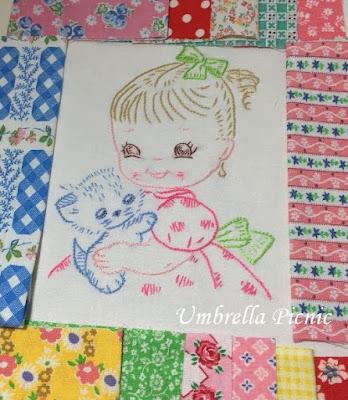 刺繍_女の子と子猫2_写真