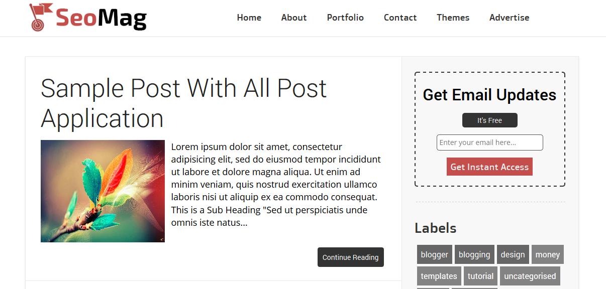 blogger templates, 100% SEO Friendly Blogger Template