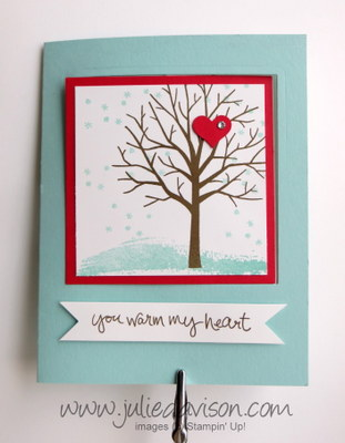 Video Tutorial for Stampin' Up! Sheltering Tree Pop Out Swing Card #stampinup #occasions www.juliedavison.com