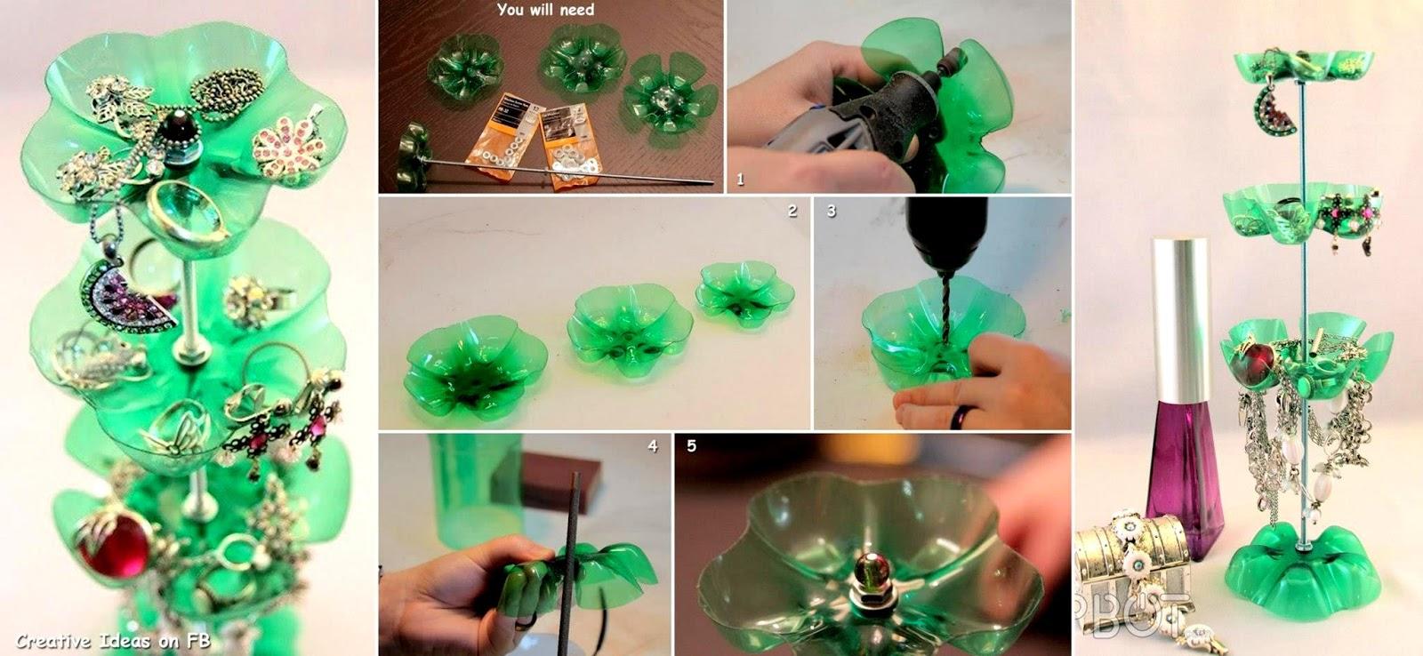 DIY Plastic Bottle Jewelry