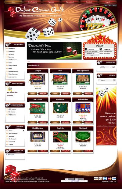 Joomla Templates Casino, Agent Betting, Agen Bola