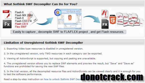 30% OFF Sothink SWF Decompiler