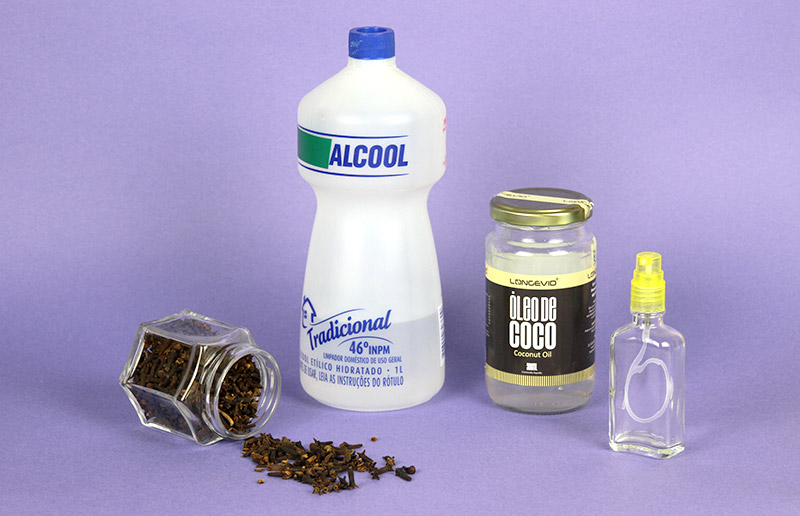 Ingredientes para receita de repelente caseiro natural e barato para espantar os mosquitos!