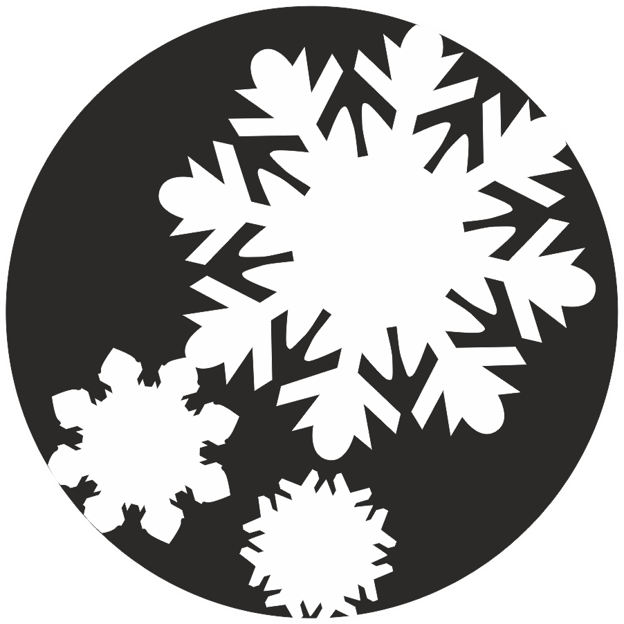 Simple Snowflake Silhouette To interpret dreams with