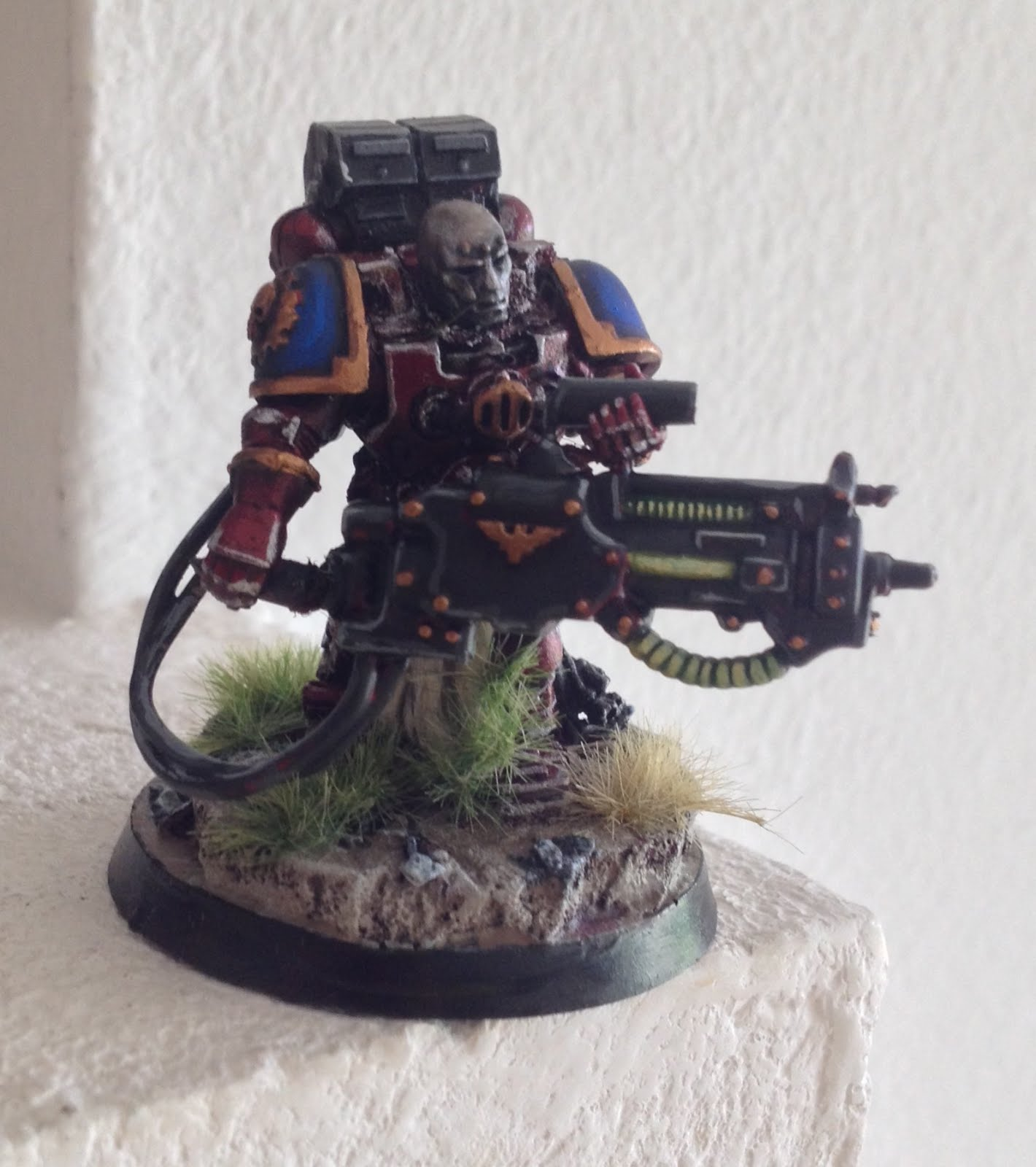 My Tech Marine With The Conversion Beamer Is From Old Game Space Crusade As There Are Almost No Other Model Pieces Available
