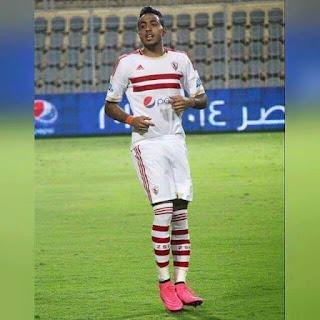 محمود عبدالمنعم كهربا جناح الزمالك وهداف الدوري المصري