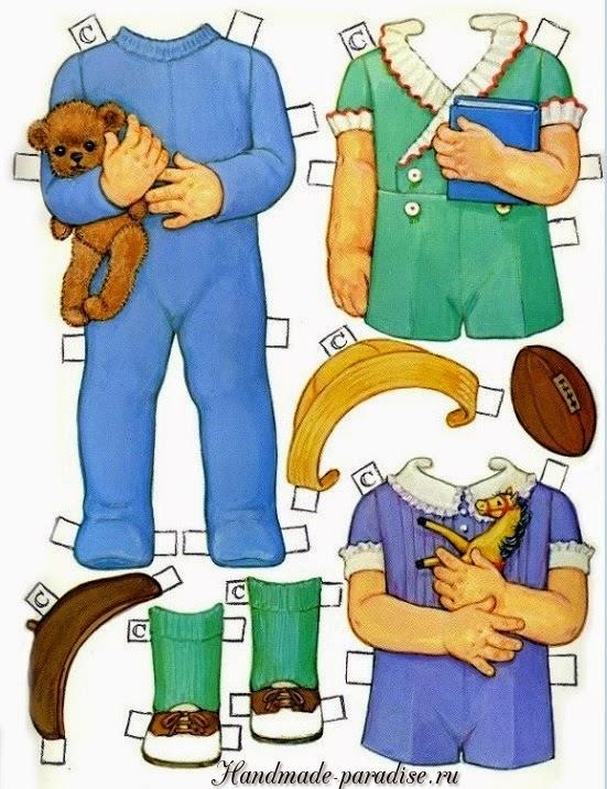 Винтажные куклы с одеждой для вырезания 2