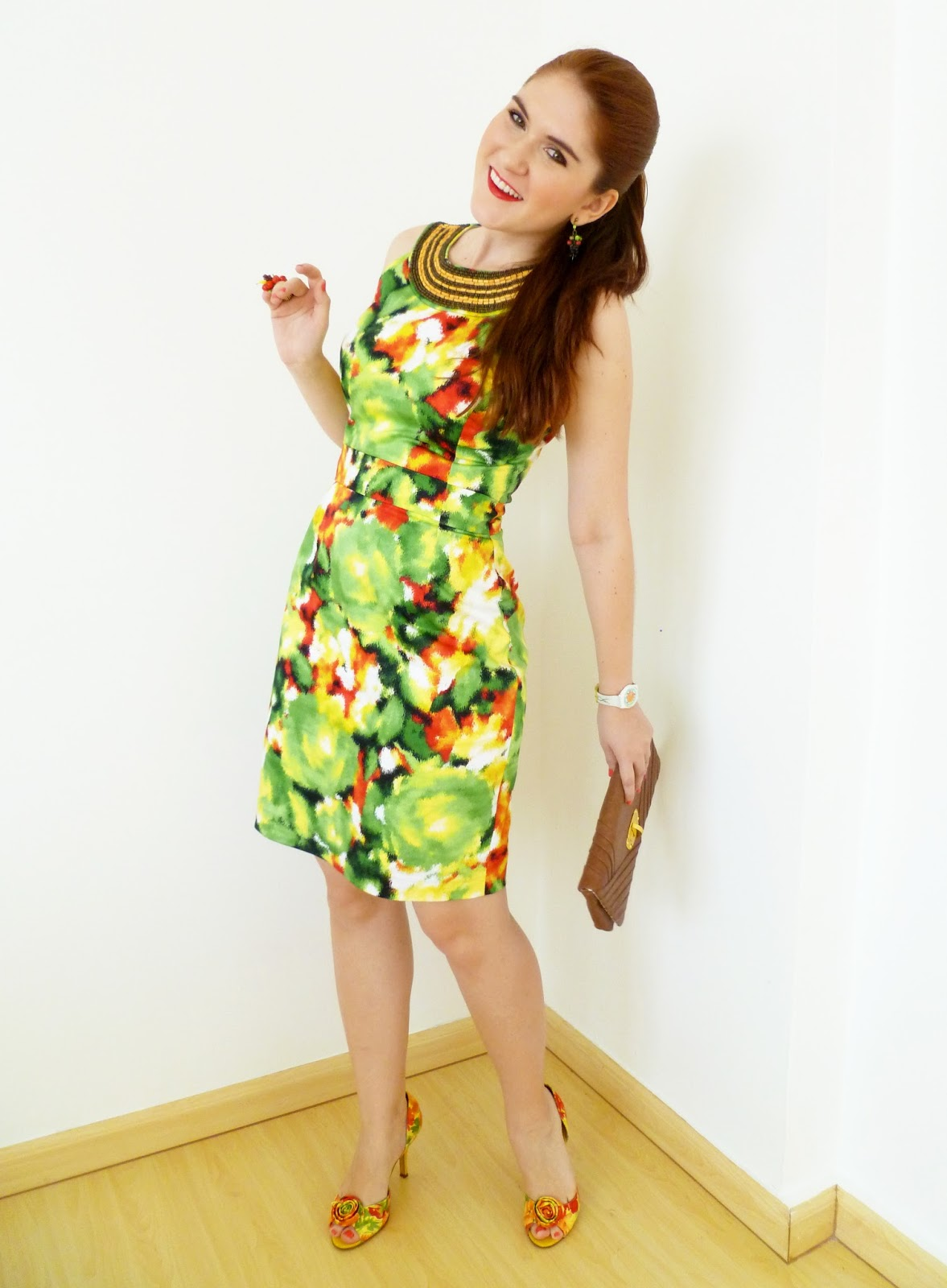 work outfit, colorful work outfit, chic work outfit, shift dress, professional outfit, office outfit, spring fashion,