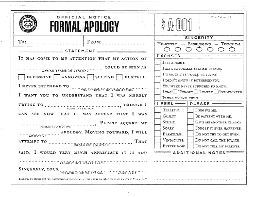 Formal apology template a must have for any dutiful husband the formal apology template a must have for any dutiful husband pronofoot35fo Image collections