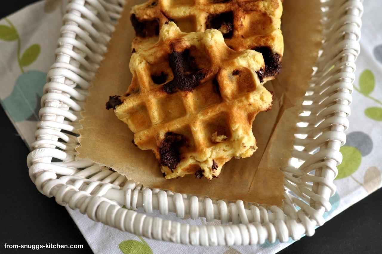 Chocolate Chip Cookies aus dem Waffeleisen