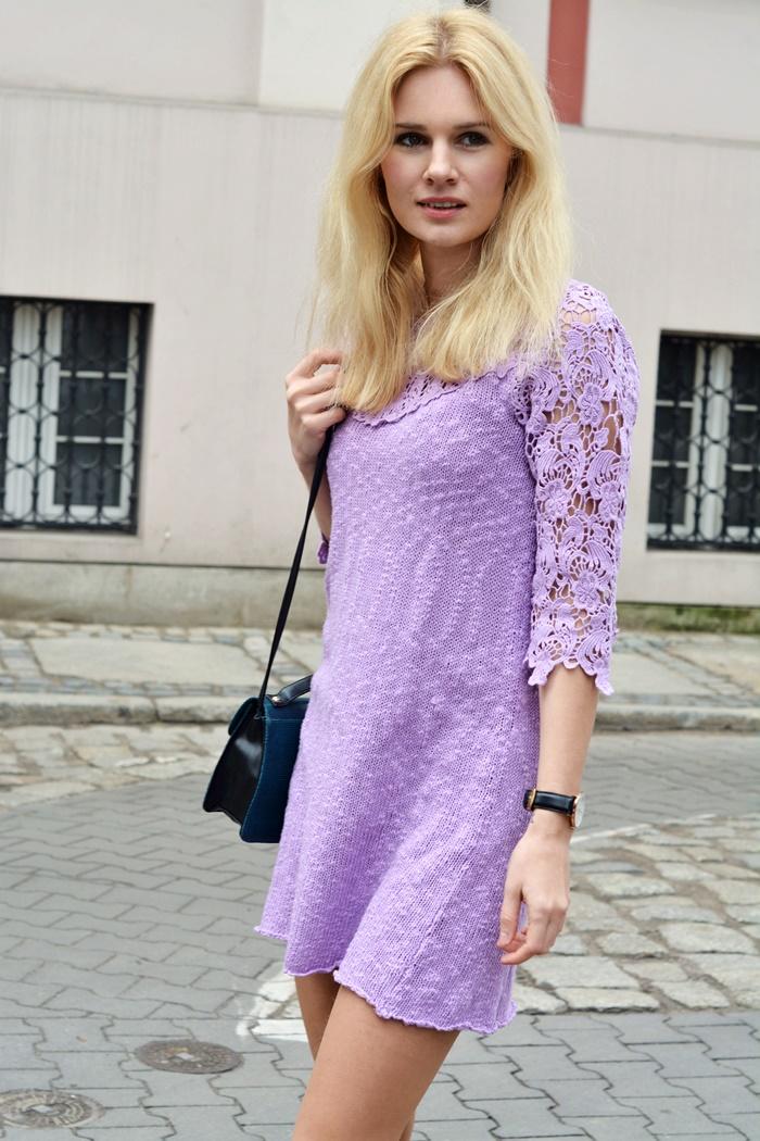 lilac dress kolor liliowy wiosna sukienka koronka kolory blog blogerka