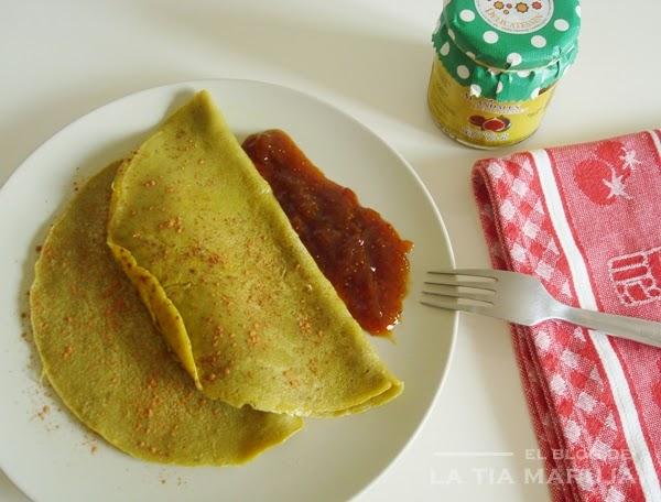 receta de crepes de te verde matcha