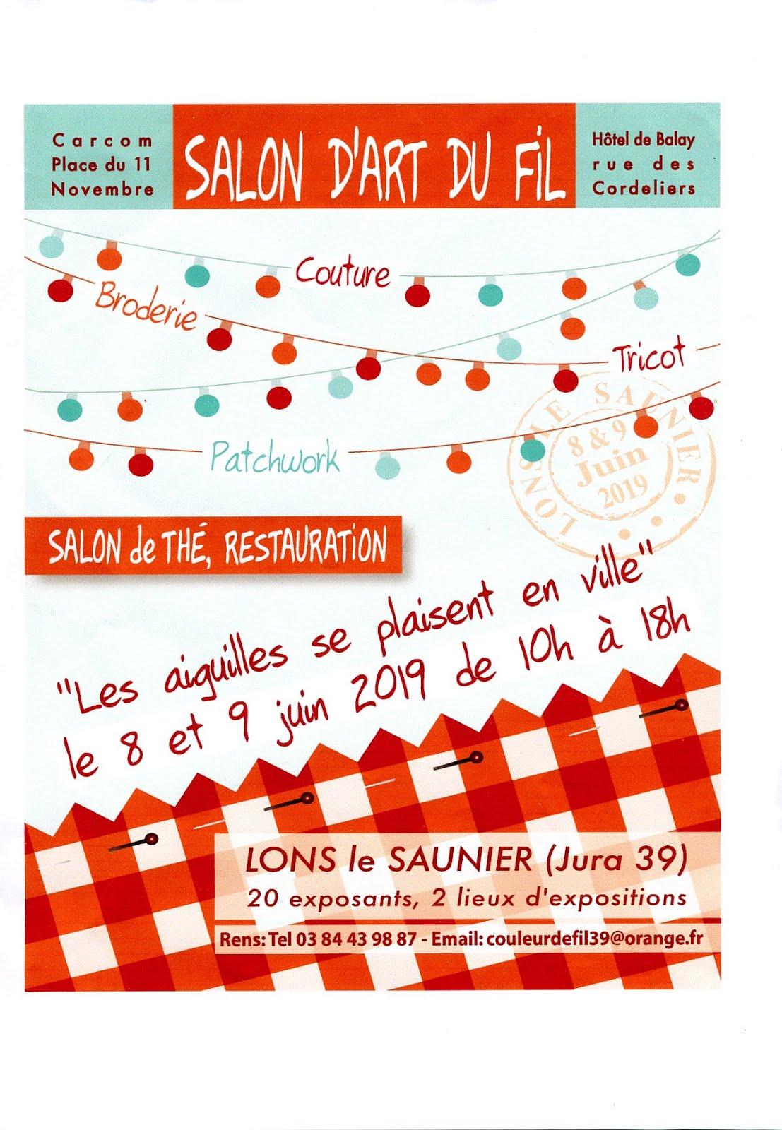 Salon d'art du fil à Lons le Saunier les 8 et 9 juin