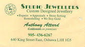 Whitby Studio Jewellers, Custome Jewellery Anthony Attard Whitby, Oshawa Durham Region