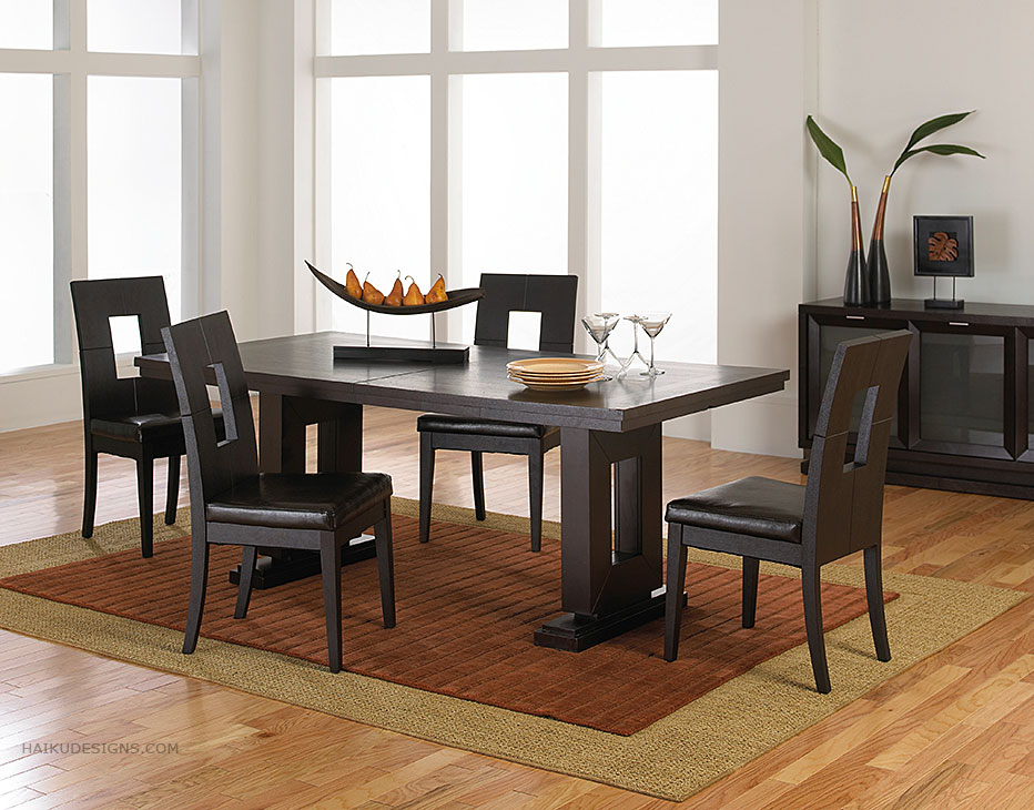 Modern furniture asian contemporary dining room furniture for Modern dining room table decor