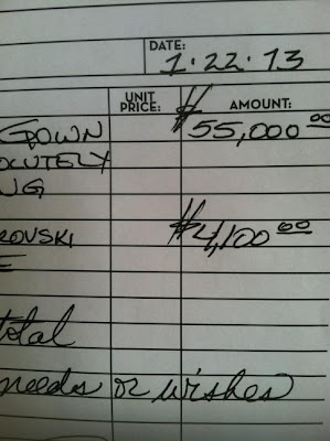 receipt of a dress that was to be featured in Cher's 'Woman's World' music video