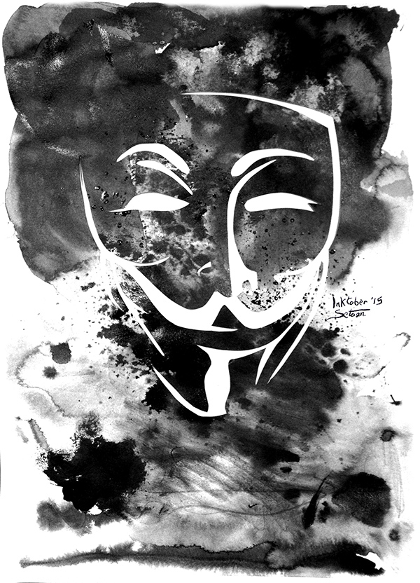 militant anonymous masque v for vendetta