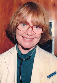 Daphne Neville playing Dr Hilary Machin in Crossroads