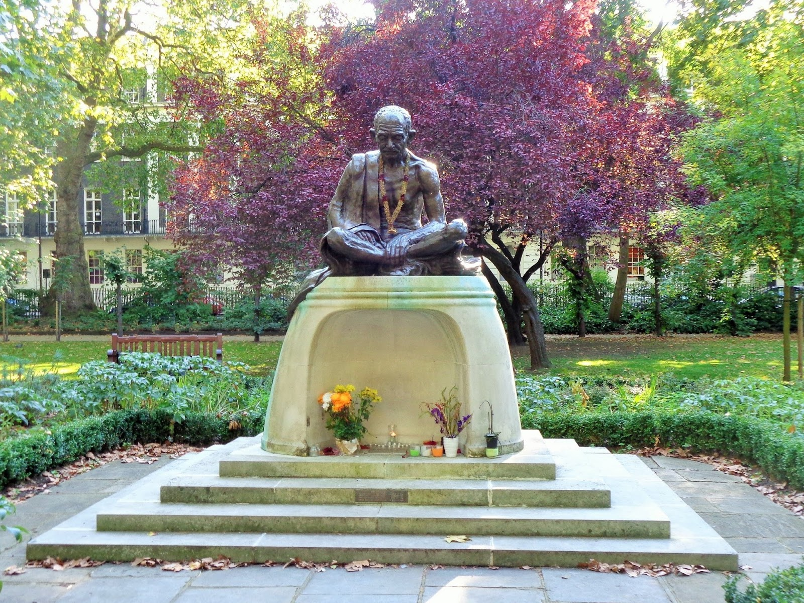 The Mahatma Gandhi Memorial Unveiled By British PM Harold Wilson On 17th May 1968