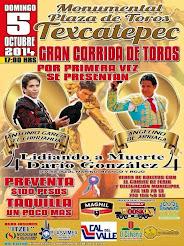 El Chihuahua mano a mano con Angelino de Arriaga en Texcatepec, el 05/10.