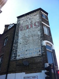 Ghost sign for Haig Whisky, Milkwell Yard, Denmark Hill, London SE5